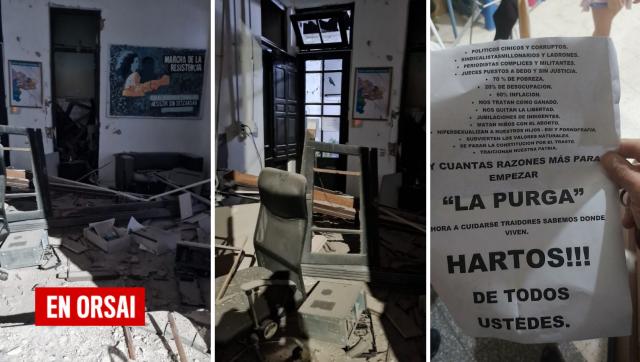 Ataque con explosivos a un local del Frente de Todos en Bahía Blanca