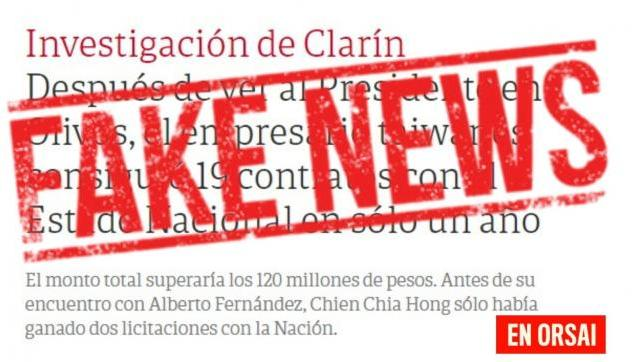 Otra mentira de Clarín: Es