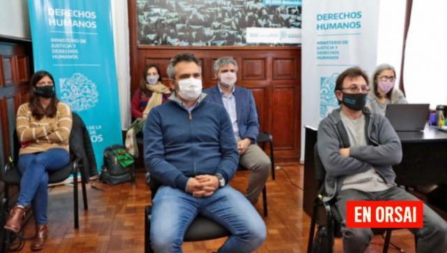 Retransmisión del testimonio de Julio López y Nilda Eloy en el juicio