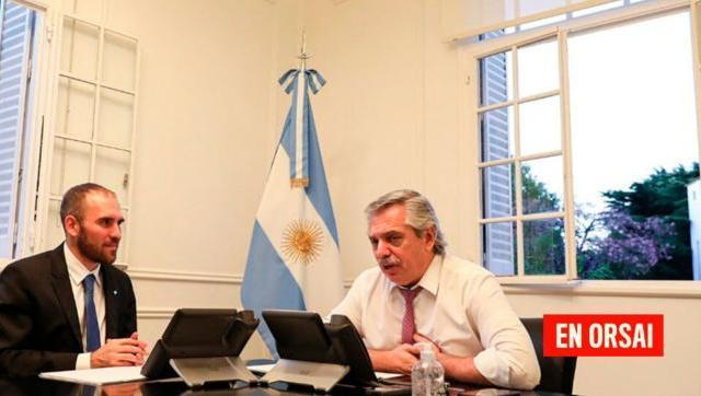 Alberto Fernández está reunido con Martín Guzmán