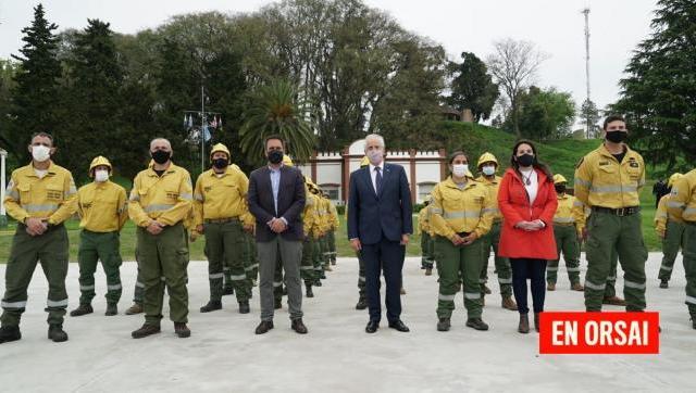 Se presentó el Curso Básico de Brigadistas Forestales para integrantes de las Fuerzas Armadas