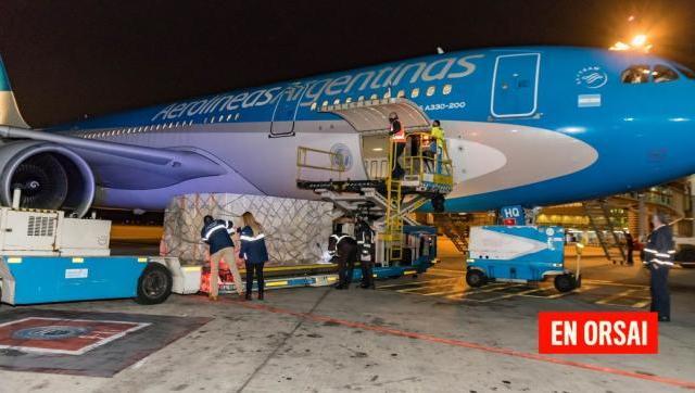 Argentina recibió 960.400 vacunas de AstraZeneca donadas por España